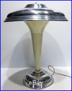 Belle LAMPE SUR PIED Ancienne ART DÉCO 1930 avec Abat-jour orientable