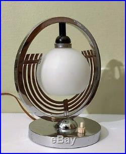 Belle Lampe Art Deco Moderniste French Modernist Lamp 200 dernier prix