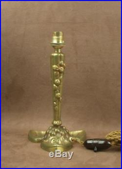 Belle Lampe En Bronze Epoque Art Deco Signee Puel Detot