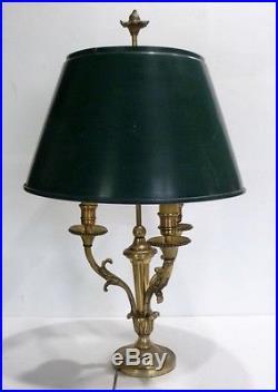 lampe art deco belle et ancienne lampe bouillotte en bronze avec abat jour en t le. Black Bedroom Furniture Sets. Home Design Ideas