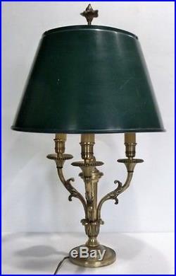 Belle et Ancienne LAMPE BOUILLOTTE en Bronze avec Abat-jour en Tôle
