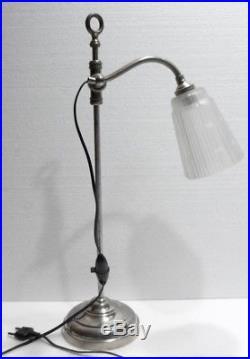 Lampe Art Deco Belle Et Ancienne Lampe De Bureau Telescopique Et