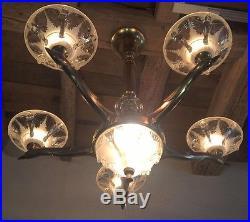 lampe art deco boris lacroix lampe lustre oiseaux v gel art deco deckenlampe kraniche sign. Black Bedroom Furniture Sets. Home Design Ideas