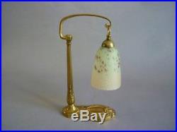 C Ranc Et Schneider Lampe En Bronze Dore Et Pate De Verre Art Deco 1925