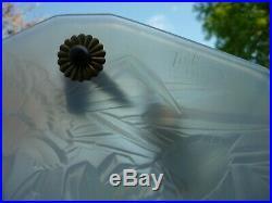 Coupe D'eclairage Suspension Plafonnier Art Deco Lampe Roba Verre Opalescent