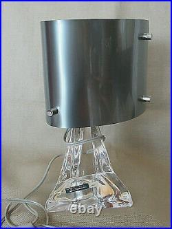 DAUM Lampe 1960 Moderniste Bauhaus Design G. Riffet