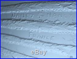 DAUM NANCY FRANCE rare très gros pied de lampe Art Déco décor à l'acide
