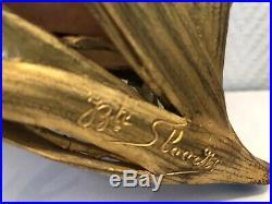 DAUM + NANCY JB SLOODTS, Lampe veilleuse, signée, 1900