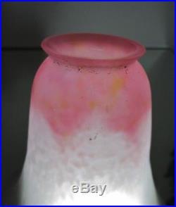 DAUM NANCY tulipe pate de verre forme corolle de fleur pour Lampe, applique