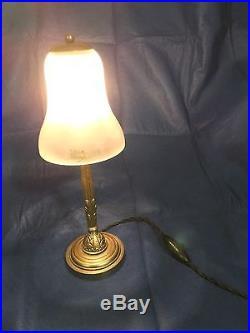 Daum Art Deco Lampe Bronze 1925-1930 signé authentique. Era Muller