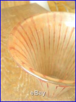 Daum Nancy Grande Tulipe Gravé De Lampadaire Ou Lampe Art Nouveau Art Déco 580