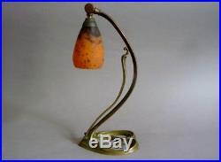 Daum Nancy Lampe Art Nouveau Bronze Et Pate De Verre 1900