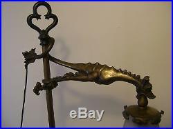 De 1920 Lampe DRAGON Muller frères Luneville en bronze doré art deco