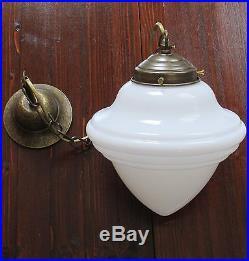 Deckenlampe Art Deco Hängelampe Jugendstil Messing Antik Lampe Pendelleuchte NEU