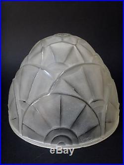 Degué chapeau de dessus de lampe époque Art déco 1930
