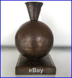 Edgar Brandt RARE lampe Art Déco 1925 Métal Martelé era Daum Muller Fer Forgé