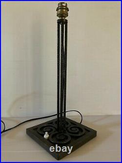 Grand Pied Lampe Fer Forgé 1,1 kg Epoque Art Déco Ferronnerie No Kiss Daum