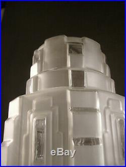 Grande Lampe Building Moderniste Cubiste Art Deco Skyscraper Gratte-ciel 1930