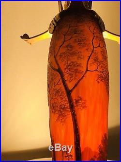 Grande Lampe Pate De Verre Legras Galle Daum ART DECO ART NOUVEAU NANCY