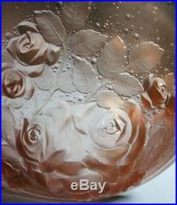 Grande Vasque pour lustre lampe verre pressé Art Déco Muller Frères Lunéville