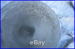 Grande vasque art déco en pàte de verre pour lustre no Muller no Daum ou lampe