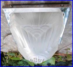 Intéressant Luminaire Pyramide Art Deco 1930 Schneider France Lampe Applique Vei