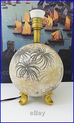 J. Henry Manufacture Rosenthal 1933 lampe céramique Art déco keramic lamp