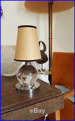 Jacques Adnet (1900-1984) Lampe moderniste art déco 1930. Excellent état