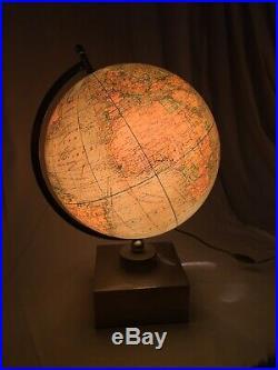 Jacques Adnet Grande Lampe Mappemonde Art Deco Moderniste