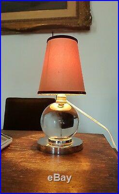 Jacques Adnet Lampe moderniste art déco 1930