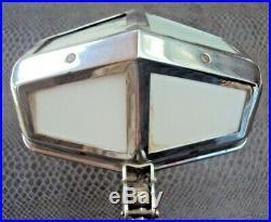 Jolie lampe pirouette art-déco en métal chromé vintage début 20 ème