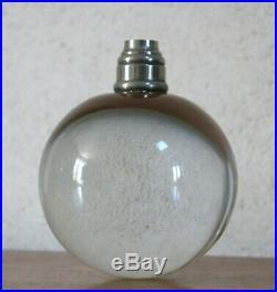 LAMPE ADNET, lampe boule de Jacques Adnet & Baccarat, lampe boule, ART DÉCO