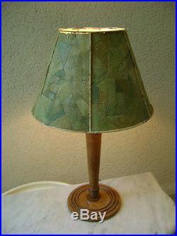 lampe art deco lampe art deco bauhaus moderniste ch ne abat jour fa on galuchat franck rousseau. Black Bedroom Furniture Sets. Home Design Ideas