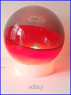LAMPE BOULE PLASTIQUE 1970 SPACE AGE 70's POP VINTAGE SEVENTIES 70S PLASTIC LAMP