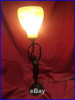 LAMPE DAUM NANCY ART NOUVEAU Très Grosse Tulipe