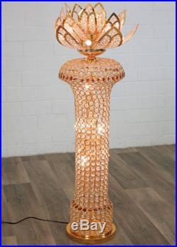 LAMPE PALMIER 130cm STYLE ART DECO EN LAITON ET VERRE LAMPADAIRE