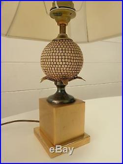 LAMPE PIED ANANAS ERA MAISON CHARLES JANSEN VINTAGE 60 70 s