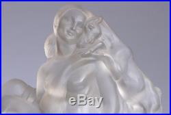 Lampe Veilleuse Sabino Bronze Art Deco Argenté