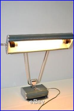 LAMPE de BUREAU ART DECO EILEEN GRAY JUMO DESIGN INDUSTRIEL DECO VINTAGE 1940/50