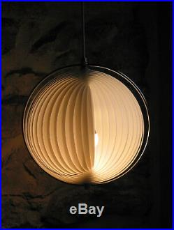 LUSTRE Lampe moon de VERNER PANTHON design 60/80 vintage pop art Diam 30 cm /