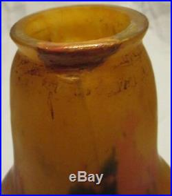 LUSTRE SUSPENSION ART DECO PATE DE VERRE MULLER LAMPE / french art glas lamp