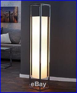 Lampadaire colonne d'éclairage Cubo 120cm BLANC CHROME plissée ART DÉCO DESIGN