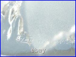 Lampe ART DECO 1920 1930, piétement fer forgé et globe signé EZAN