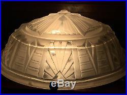 Lampe Art Deco Aux Moulins Fer Forge Et Vasque Verre 1930 Muller Freres Lunevill
