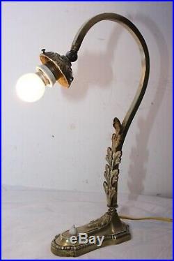 Lampe Art Deco Bronze Pour Pate De Verre Muller Daum Schneider Lustre