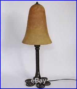 Lampe Art Deco En Fer Forgé Signé Edgar Brandt Et Daum Nancy