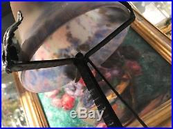 Lampe Art Deco Fer Forge Pate De Verre Signe Muller / Ancien / Luminaire