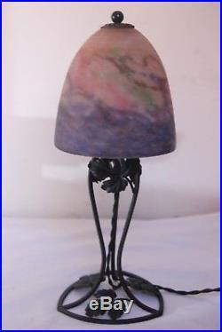 Lampe Art Deco Muller Freres Lustre