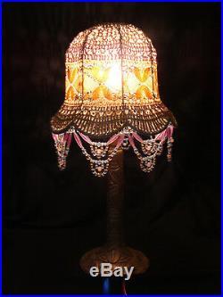 Lampe Art Déco dépoque, piètement en bronze argenté