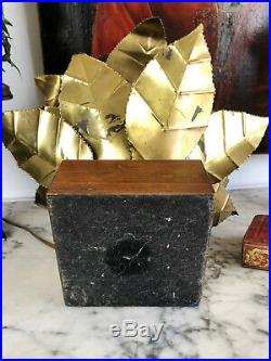 Lampe Brutaliste Des Années 70 Dans Le Goût De Jansen Modèle Fleur
